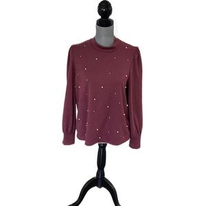 Reitmans Faux Pearl Embellished Sweater